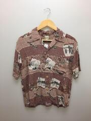 アロハシャツ/M/レーヨン/ブラウン/SS30211/ムサシヤ