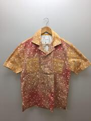 Bandana Print Point Shirt/半袖シャツ/M/コットン/オレンジ