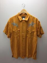 WESTERN SHIRT/半袖シャツ/M/レーヨン/オレンジ