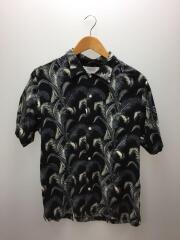 Fern-SS/ALS001/半袖シャツ/M/レーヨン/ブラック