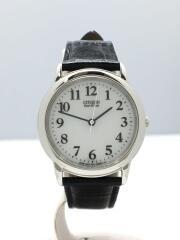 ソーラー腕時計/E031-K006058/アナログ/レザー/ホワイト/ブラック