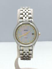 ソーラー腕時計/V182-0AE0/アナログ/シルバー