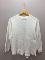 ビッグワッフルカットソー/長袖Tシャツ/KIA-T94-010/1/コットン/ホワイト