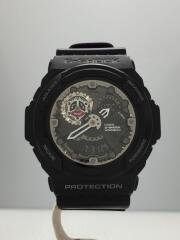 クォーツ腕時計/デジタル/ラバー/ブラック/GA-300