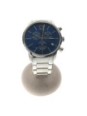 クォーツ腕時計/アナログ/ステンレス/ネイビー/K2G 271