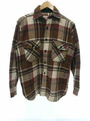 ネルシャツ/50s/CPOシャツ/ウール/ブラウン/チェック