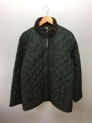 キルティングジャケット/XL/ポリエステル/グリーン