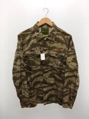 BDUシャツ/長袖シャツ/01164404/L/コットン/カーキ/カモフラ