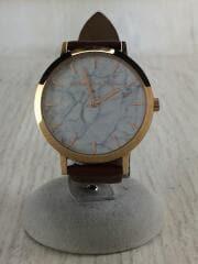 クォーツ腕時計/アナログ/レザー/ゴールド/ブラウン/CP1216-02752