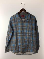 長袖シャツ/M/コットン/BLU/20SS Printed Plaid Shirt/チェック/メンズ