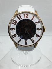クォーツ腕時計/アナログ/レザー/ホワイト/Rm007-0053-4
