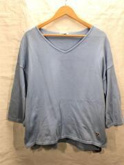 長袖Tシャツ/1/コットン/ブルー/古着/中古