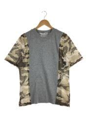 Tシャツ/S/コットン/GRY/S10220/メッシュ切替/古着/中古