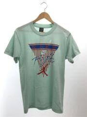 Tシャツ/M/コットン/BLU/無地
