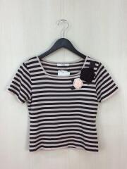 Tシャツ/36/--/PNK/ボーダー