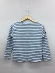 OUESSANT◆ウェッソン/Tシャツ/XXS/コットン/GRY/ボーダー/ヨゴレ有