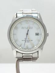 クォーツ腕時計/アナログ/ステンレス/WHT/FBZD992/キズ有