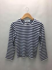 長袖Tシャツ/S/コットン/NVY