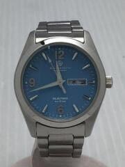 E101-S065399/ソーラー腕時計/アナログ/ステンレス/BLU