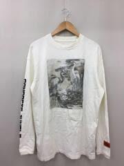 2020SSmodel/長袖Tシャツ/M/コットン/WHT/使用感有/ヨゴレ有