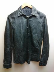 LEATHER SHIRT/レザーシャツ/使用感有/長袖シャツ