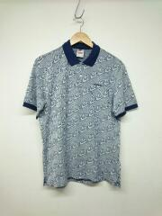 18AW/Jacquard Polo/S/コットン/NVY