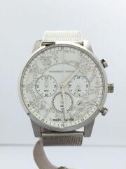 クォーツ腕時計/アナログ/ステンレス/WHT/NNC42