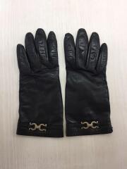 手袋/レザー/BLK/ガンチーニ/裏地シルク