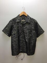Cut Off Opencollar Shirt/半袖シャツ/S/ポリエステル/PUP/総柄/gl086