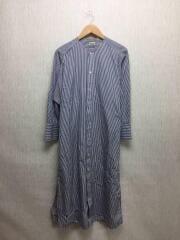 Stripe Wrap Shirt Dress/長袖ワンピース/FREE/コットン