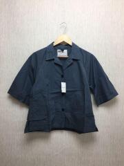 半袖シャツ/2/コットン/BLU/無地