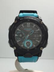 G-SHOCK/腕時計/アナログ/ラバー/BLK/BLU/GA-2000-1A2