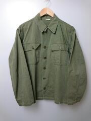 M-47/ヘリンボーンシャツジャケット/ミルスペック欠損/裾汚れ有/右肩付近汚れ有/ミリタリーシャツ