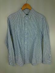 BDシャツ/長袖シャツ/M/コットン/BLU/ストライプ