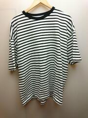 Tシャツ/2/コットン/WHT/ボーダー
