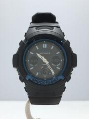 クォーツ腕時計/デジアナ/--/BLK