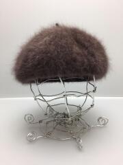 ベレー帽/FREE/アンゴラ/BRW