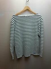 長袖Tシャツ/--/コットン/WHT/ボーダー