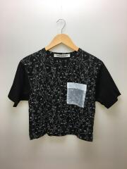 Tシャツ/FREE/コットン/BLK/総柄