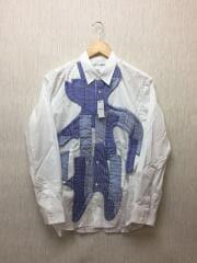 20SS/パッチワークシャツ/S/コットン/WHT/無地/W27030