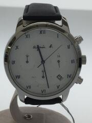 ソーラー腕時計/アナログ/レザー/VR42-KDD0