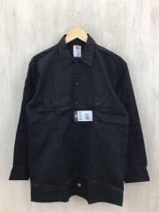 長袖シャツ/M/コットン/ブラック/無地/RN20697/メンズ/ホンジュラス製/胸ポケット/黒