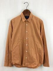 長袖シャツ/2/コットン/キャメル/106000002/メンズ/セレクト/日本製/無地