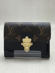 ポルトフォイユ・チェリーウッド コンパクト_モノグラムキャンバス/PVC/ブラック