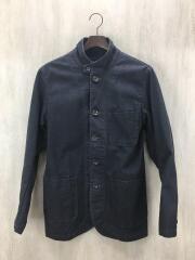 ジャケット/38/コットン/グレー/無地/カバーオール/メンズ/日本製/胸ポケット