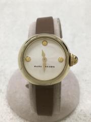 マークバイマークジェイコブス/クォーツ腕時計/アナログ/レザー/ホワイト