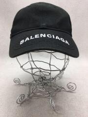 バレンシアガ/キャップ/コットン/ブラック/無地/イタリア製/刺繍ロゴ/服飾雑貨/帽子