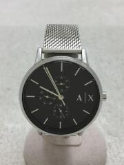 アルマーニエクスチェンジ/クォーツ腕時計/アナログ/シルバー