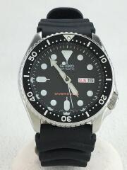 自動巻腕時計/アナログ/ラバー/ブラック/7S26-0020/ブラックボーイ/ダイバーズ