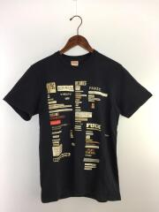 Tシャツ/S/コットン/NVY/使用感有